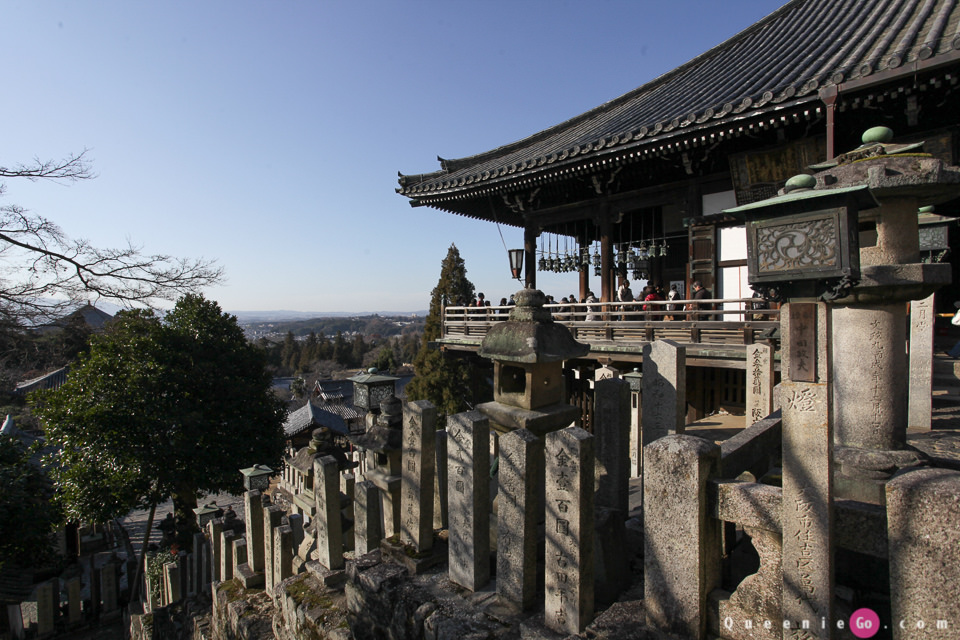 「日本關西奈良」世界遺產東大寺,可以看奈良市景的二月堂