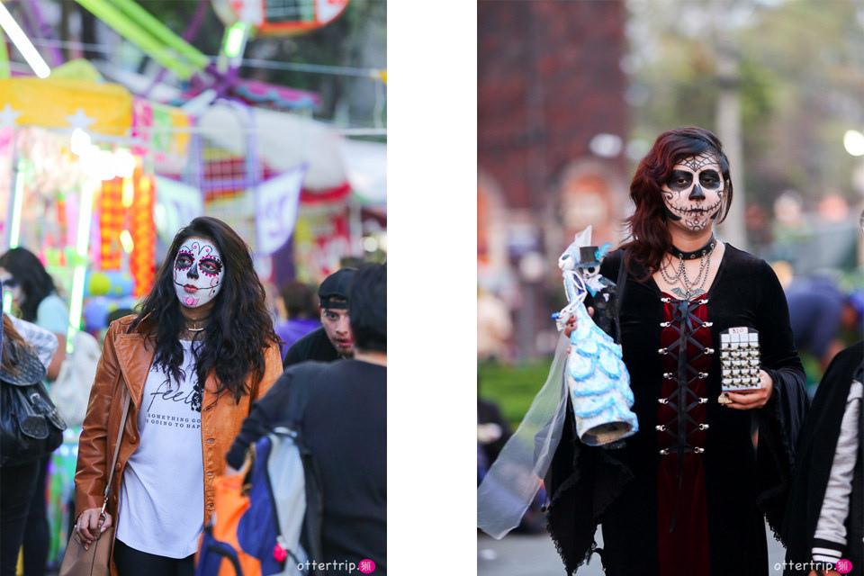 「墨西哥城」科約阿坎區Coyoacan的亡靈節Día de Muertos大趴