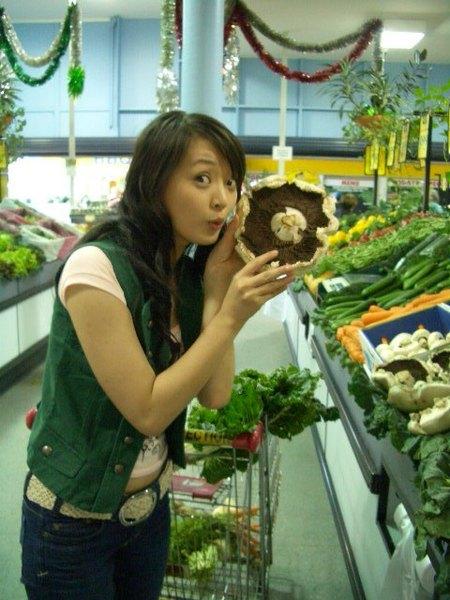 和我臉一樣圓的香菇