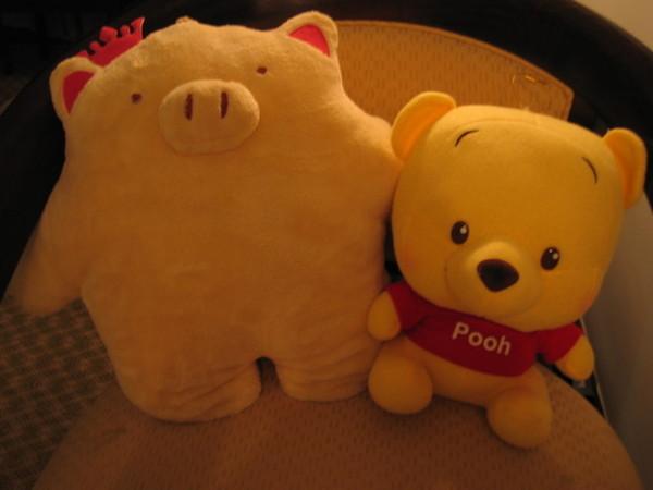 左邊那個就是楊雪送我的諾諾 右邊是我自己買的Pooh poo