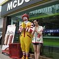 再度與拜拜的麥當勞叔叔合照