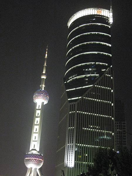 上海的夜景,東方明珠