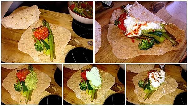 wrapping tortilla