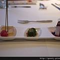 前菜 - 藍莓山藥+彩椒水蓮+蒟蒻蕃茄