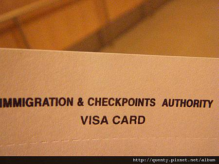 入境申請visa card