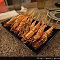 新鮮海味的蝦子