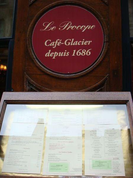 巴黎最古老的咖啡館