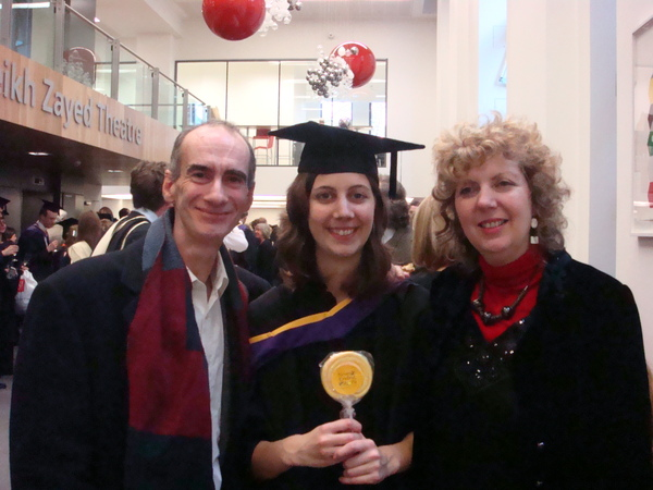 Ariane and her parents