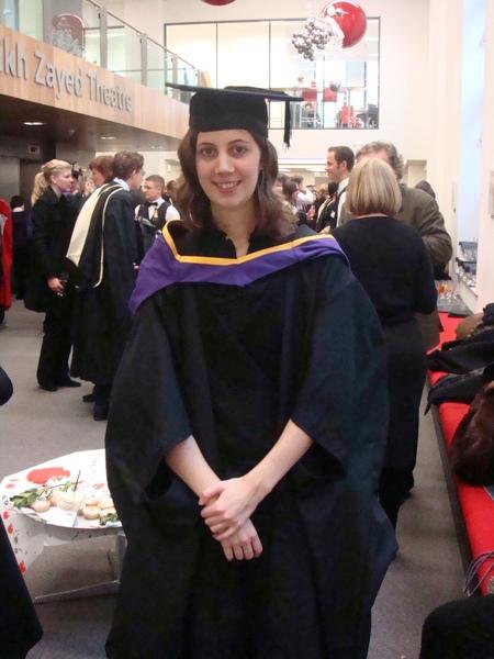 Ariane in graduation gown