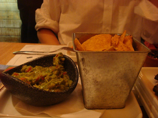 Tortilla Chips w/ not-so-good green sauce =(