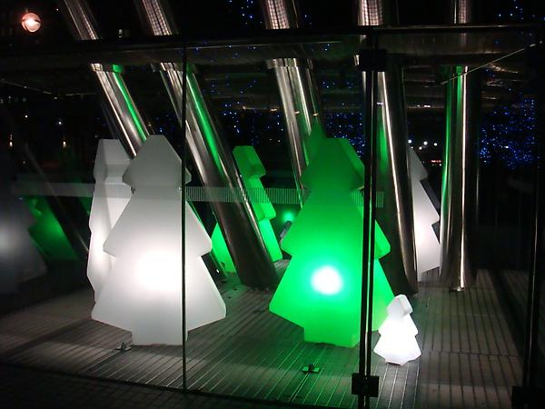 The Mini Christmas Tree Exhibition near London Eye