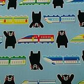 熊本縣吉祥物KU MA MON熊與新幹線(水藍色)