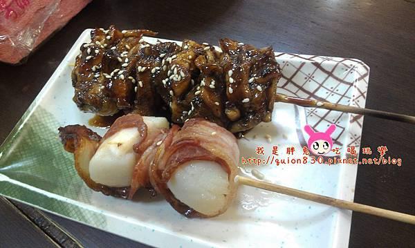 雞肉串、干貝串