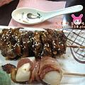 雞肉串、干貝串-對比