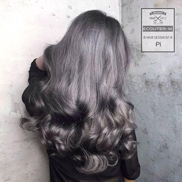 染髮,仙系色,仙色,特殊色,灰色,漂髮,老奶奶灰,銀灰色