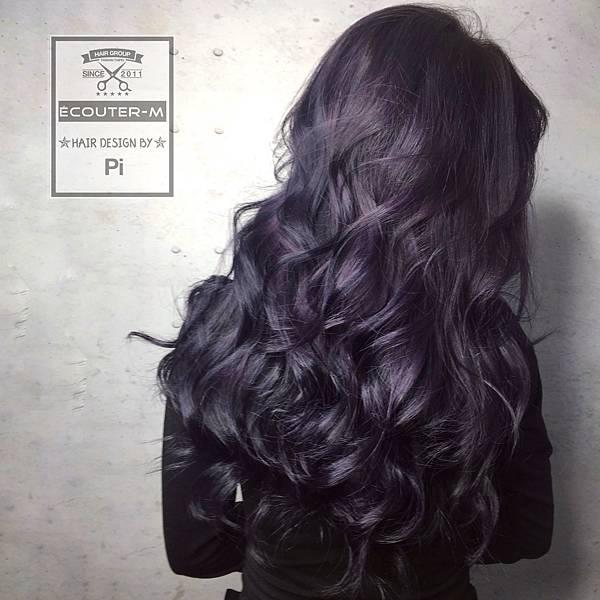 染髮,babylight,漸層染,手刷染,特殊色,灰色,漂髮,藍紫色,紫色