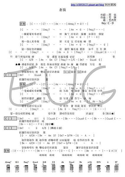 五月天 - 倉頡 - 阿杰製作樂譜