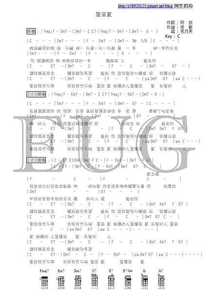 五月天 - 麥來亂 - 阿杰製作樂譜