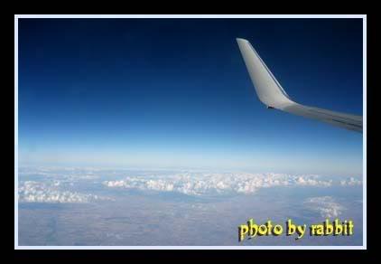 飞往悉尼的空中