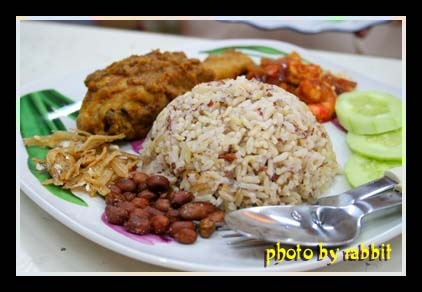 nasi lemak + ayam rendang