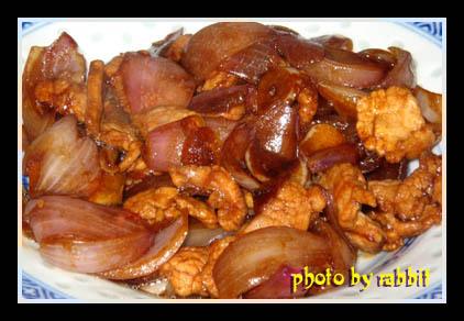 大葱炒肉+蒸水蛋