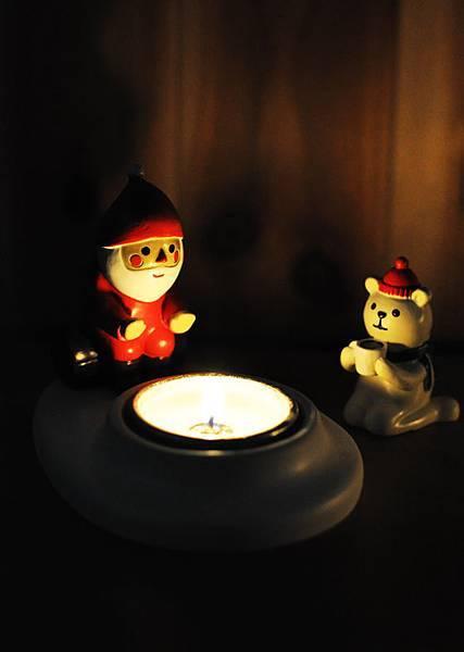 聖誕老公公取暖