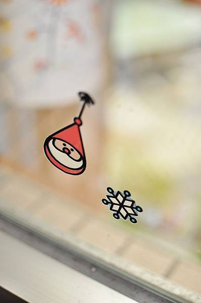 聖誕玻璃貼1