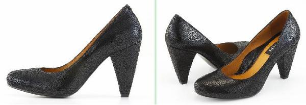 超質感黑色牛皮高跟包鞋 (兩款)亮