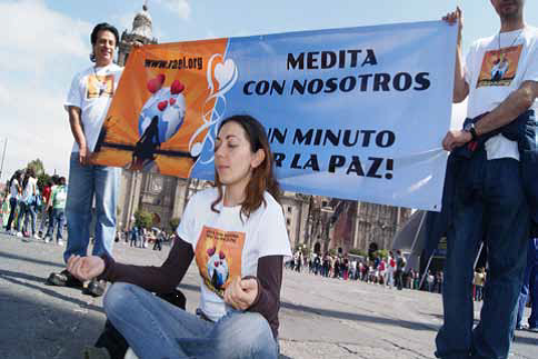 One minute for peace campaign in Mexico