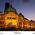 21. Flinders Street Station at night