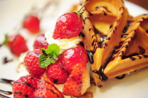 季節限定草莓鬆餅