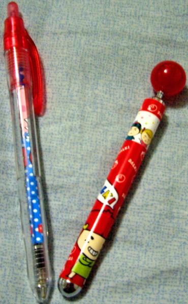 草莓妹自動鉛筆跟原子筆