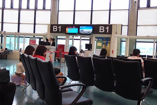 等待上飛機