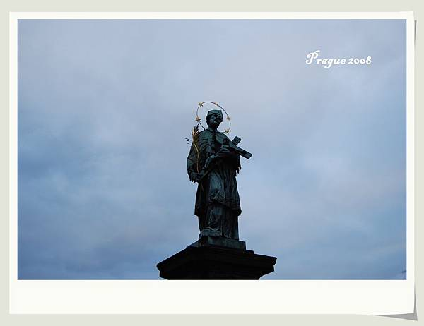 chales bridge statue-tag-frame