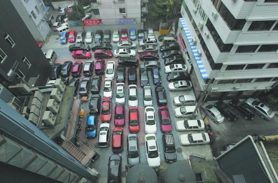 世界最擠停車場
