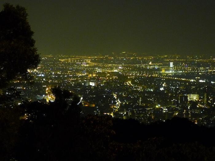 文化大學後山夜景