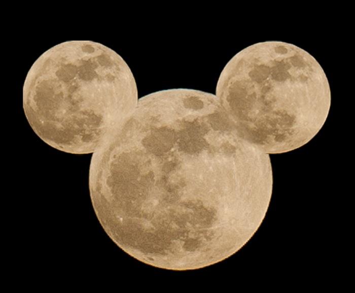 超級月亮 米老鼠