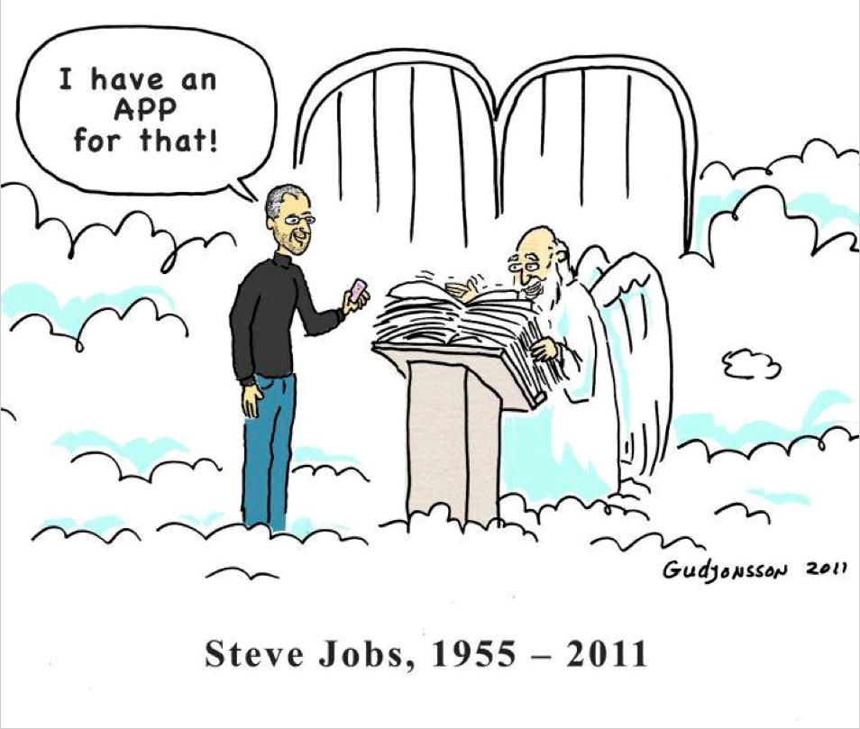Steve Jobs 上天堂