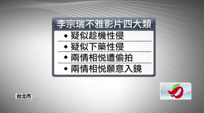 李宗瑞不雅影片四大類