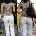 白褲下的內褲痕 011