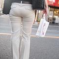 白褲下的內褲痕 070