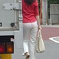 白褲下的內褲痕 073