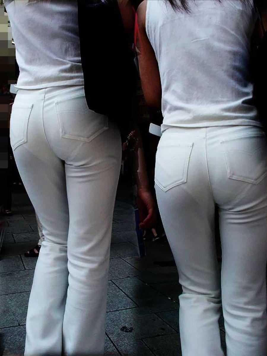 白褲下的內褲痕 091