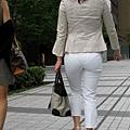 白褲下的內褲痕 096