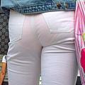 白褲下的內褲痕 106