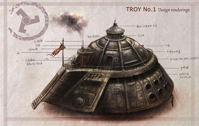 特洛伊 設計圖