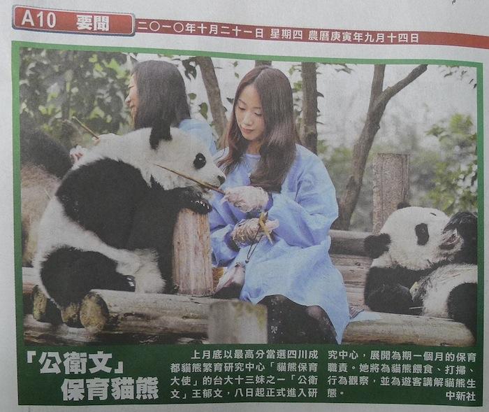 「公衛文」 保育貓熊  20101021
