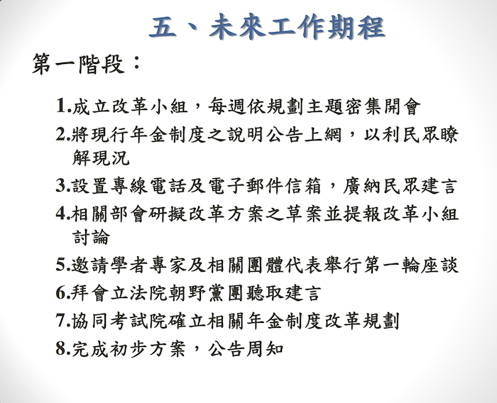年金制度改革規劃報告 1
