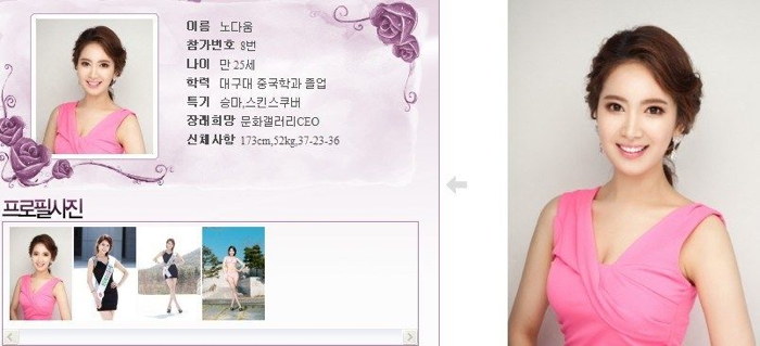 韓國小姐 2013 08