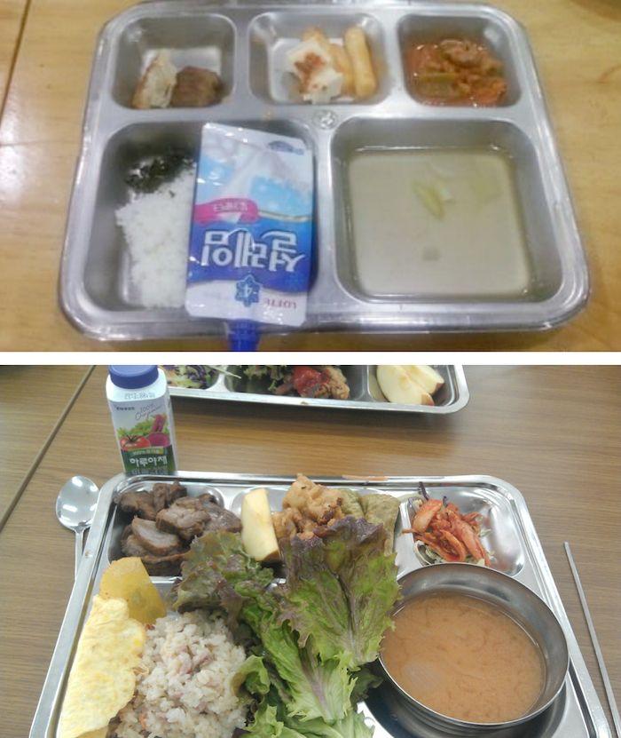 韓國高中午餐大不同